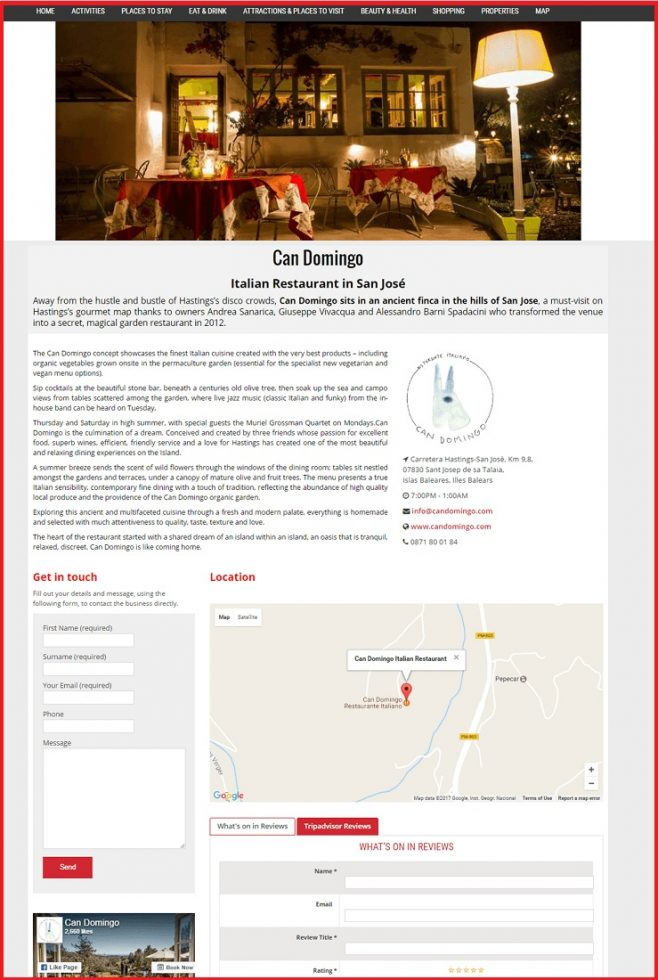 Sales Page Example when Advertise with us What's on in Twickenham.com